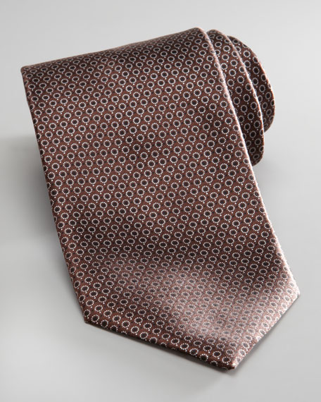 Micro-Dot Tie, Brown