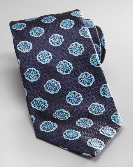 Flower Tie, Navy