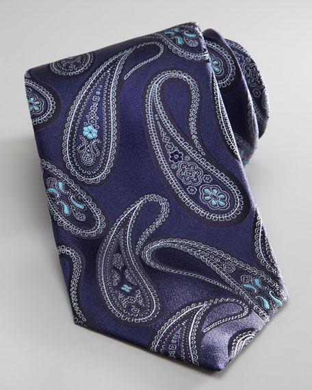 Paisley Tie, Aqua