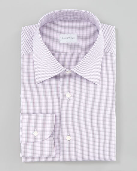 Check Dress Shirt, Purple