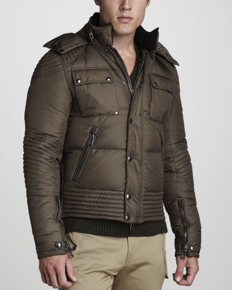 Caine Down Puffer Motorcycle Jacket