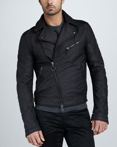 Clayton Rubberized Jersey Motorcycle Jacket