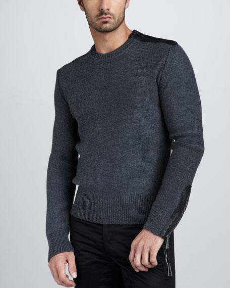 Nailsea Leather-Trim Sweater