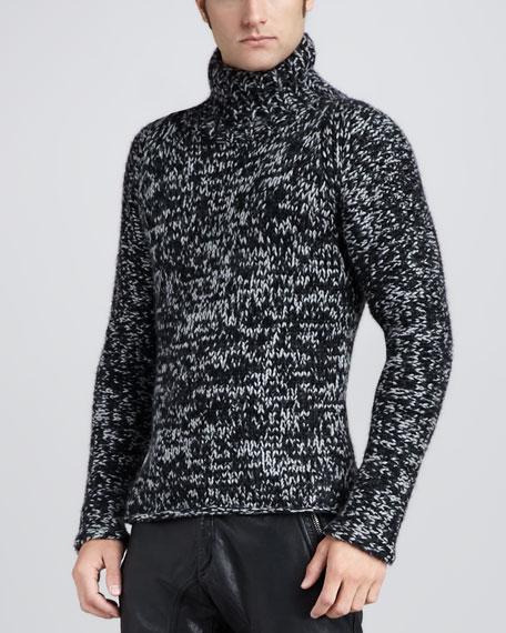 Kirby Melange Mock-Neck Sweater