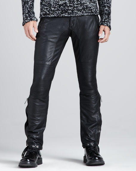 Telford Leather Biker Pants