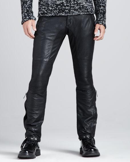 bbc990537ebf Belstaff Telford Leather Biker Pants