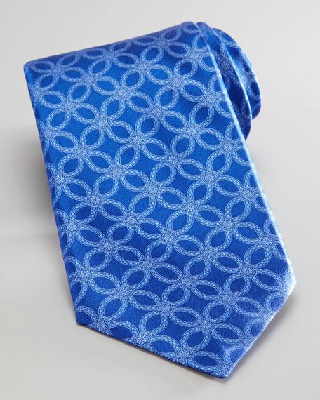Large Floral Tie, Blue