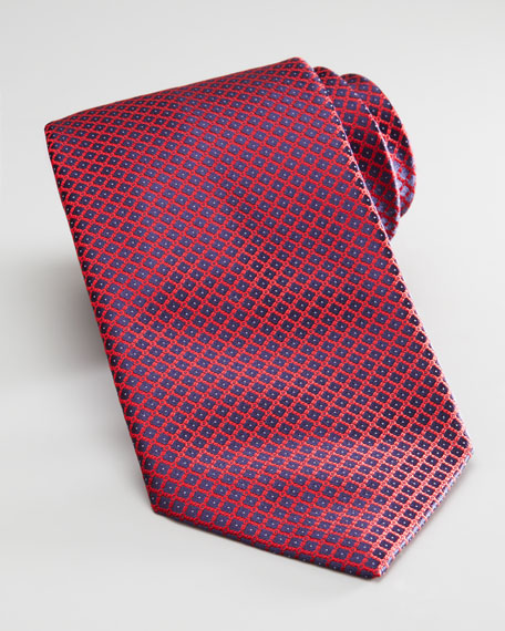 Mini Grid Silk Tie