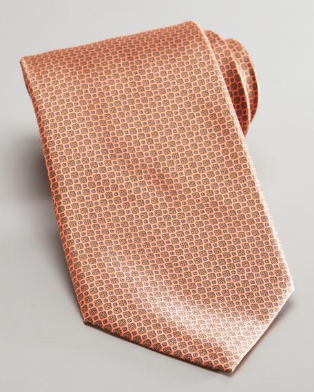 Mini Flower Silk Tie, Orange