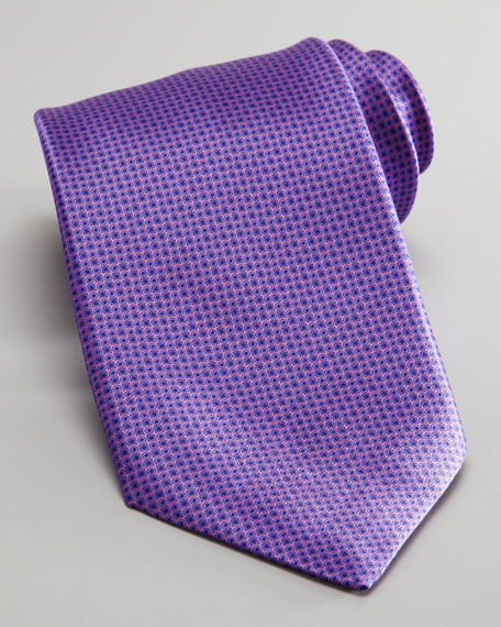 Neats Silk Tie, Purple
