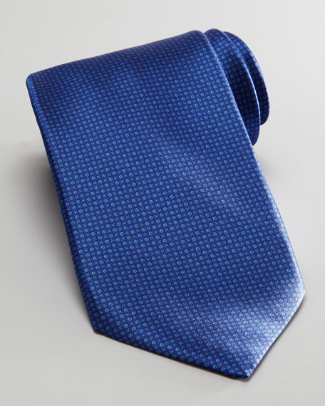 Tonal Tiny Neats Tie, Navy