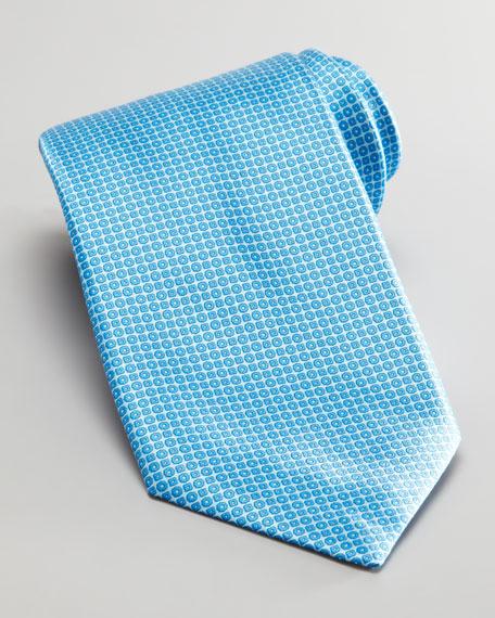 Tonal Neats Silk Tie, Aqua