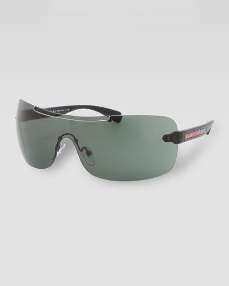 Plastic Sport Shield Sunglasses