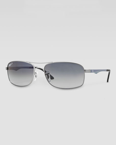 Polarized Navigator Sunglasses, Dark Blue