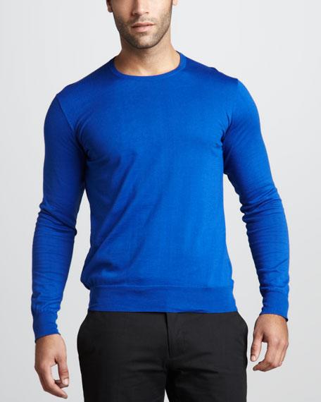 Cotton Crewneck Sweater, Cruise Royal