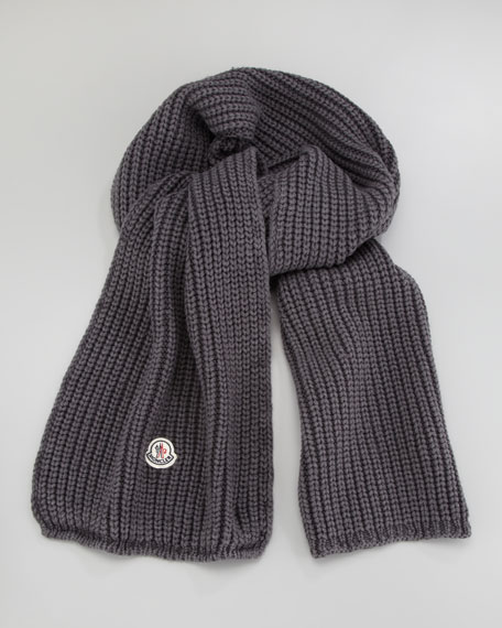Washed Cable-Knit Scarf