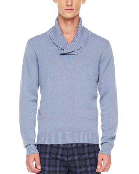 Shawl-Collar Sweater, Stone Wash