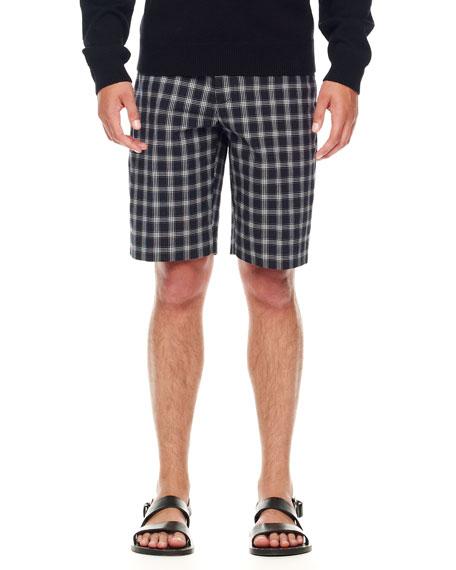 Check Cotton Shorts