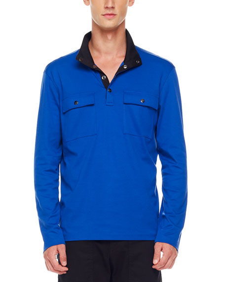 Two-Pocket Jersey Pullover, Royal