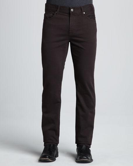 Slimmy Dark Brown Twill Pants