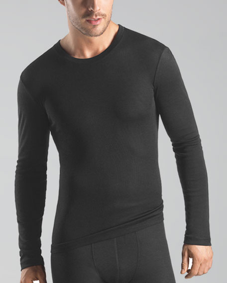 Silk-Cashmere Long-Sleeve Undershirt