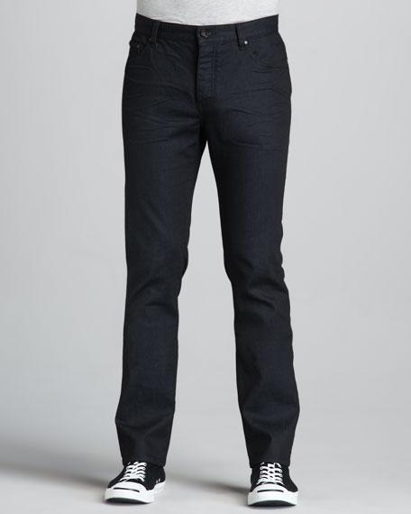 Straight-Leg Navy Jeans