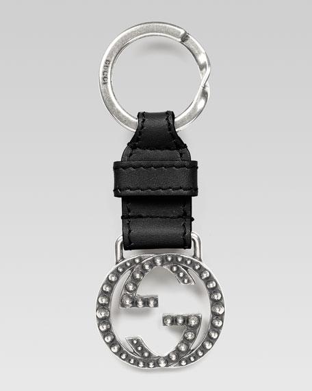 Studded Interlocking G Key Chain