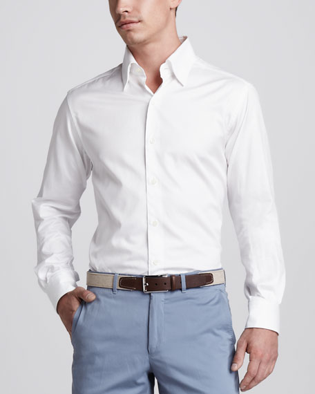 Herringbone Button-Down Shirt