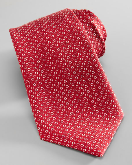 Gancini & Circle Tie, Red