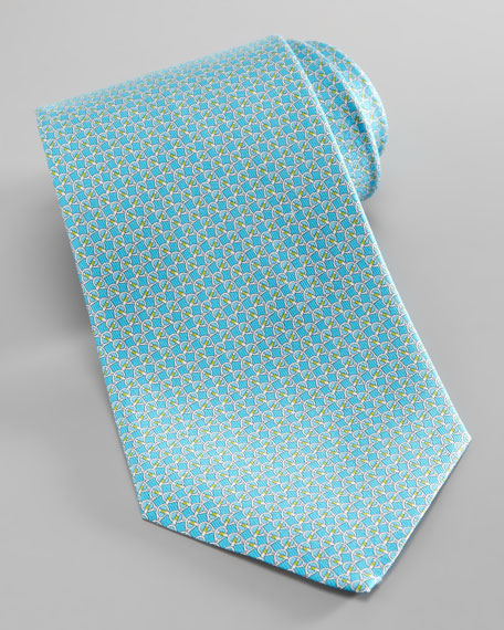 Tennis Racket Silk Tie