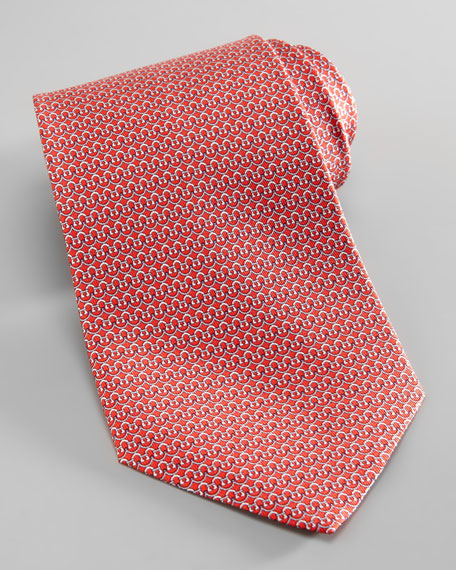Gancini-Bridge Silk Tie