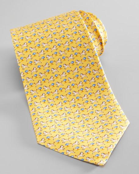 Zebra & Tree Silk Tie