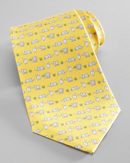 Elephant & Mouse Tie, Yellow