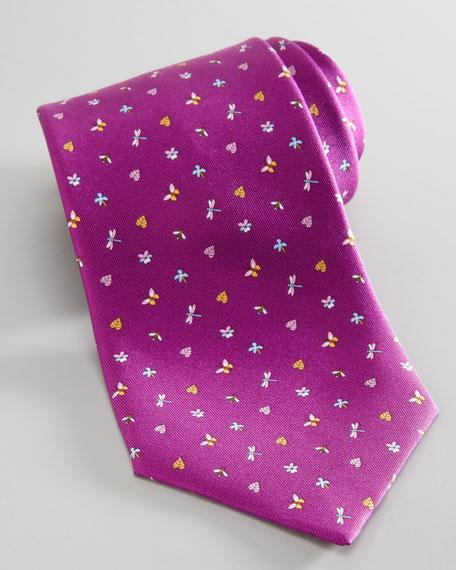 b7ffafbd08cd Salvatore Ferragamo Dragonfly/Butterfly Silk Tie, Purple