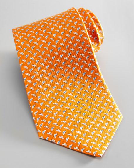 Cowboy Hat Tie, Orange