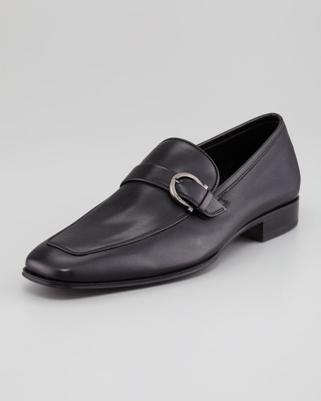 Tincino Buckled-Bit Loafer, Black