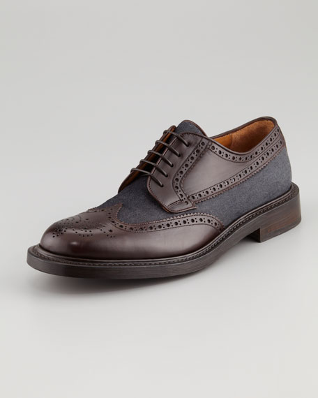 Tosco Leather & Denim Oxford