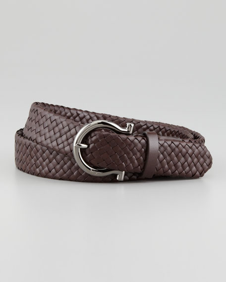 Braided Woven Leather Belt
