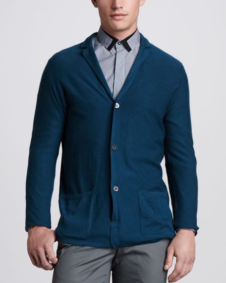 Three-Button Cashmere Jacket