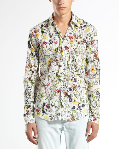 Mini Infinity Floral-Print Shirt