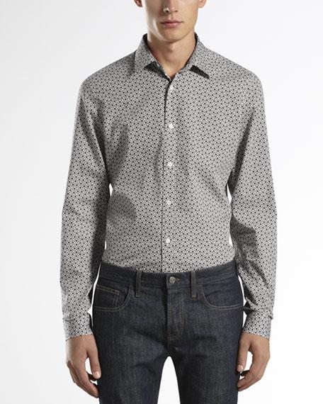 Macro Horsebit-Print Slim Shirt