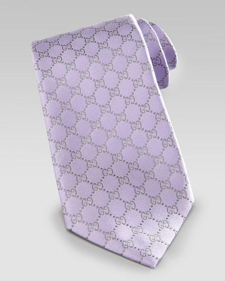 GG-Print Tie, Lavender