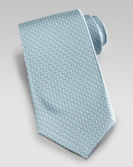 GG-Print Tie, Aqua