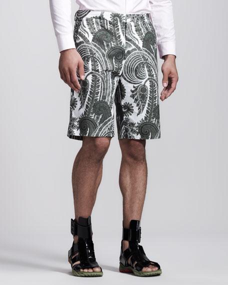 Paisley Bermuda Shorts