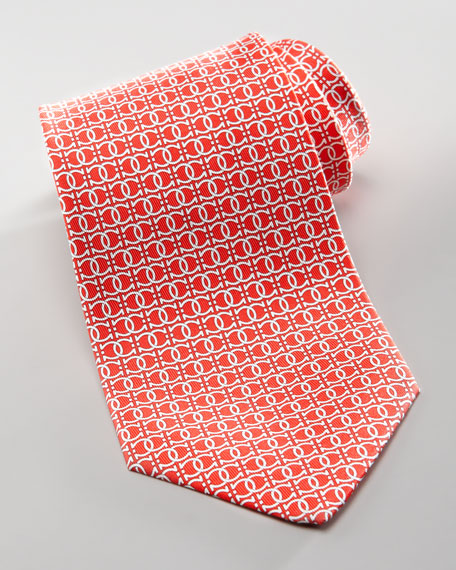 Interlock Gancini Tie, Red