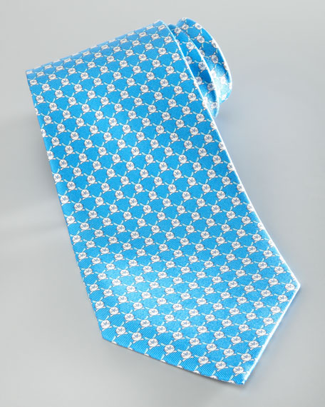 Rabbit Silk Tie, Blue