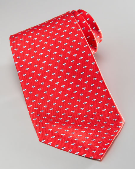 Micro-Bee Silk Tie, Red