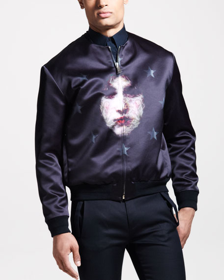 Face-Print Bomber Jacket