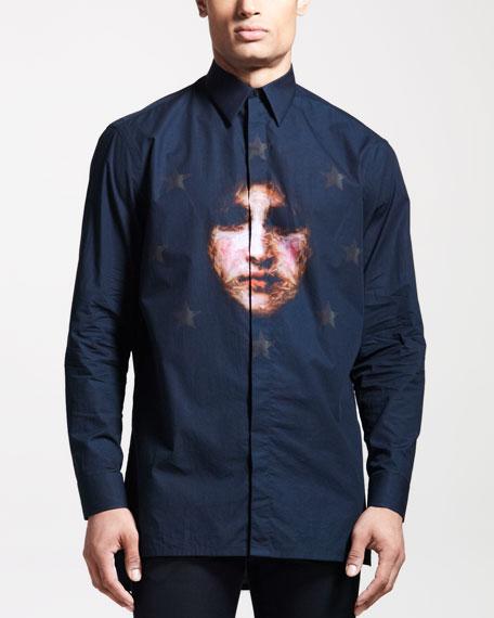 Columbian-Fit Face-Print Shirt