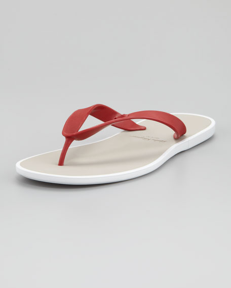 Gym Rubber Thong Sandal, Red